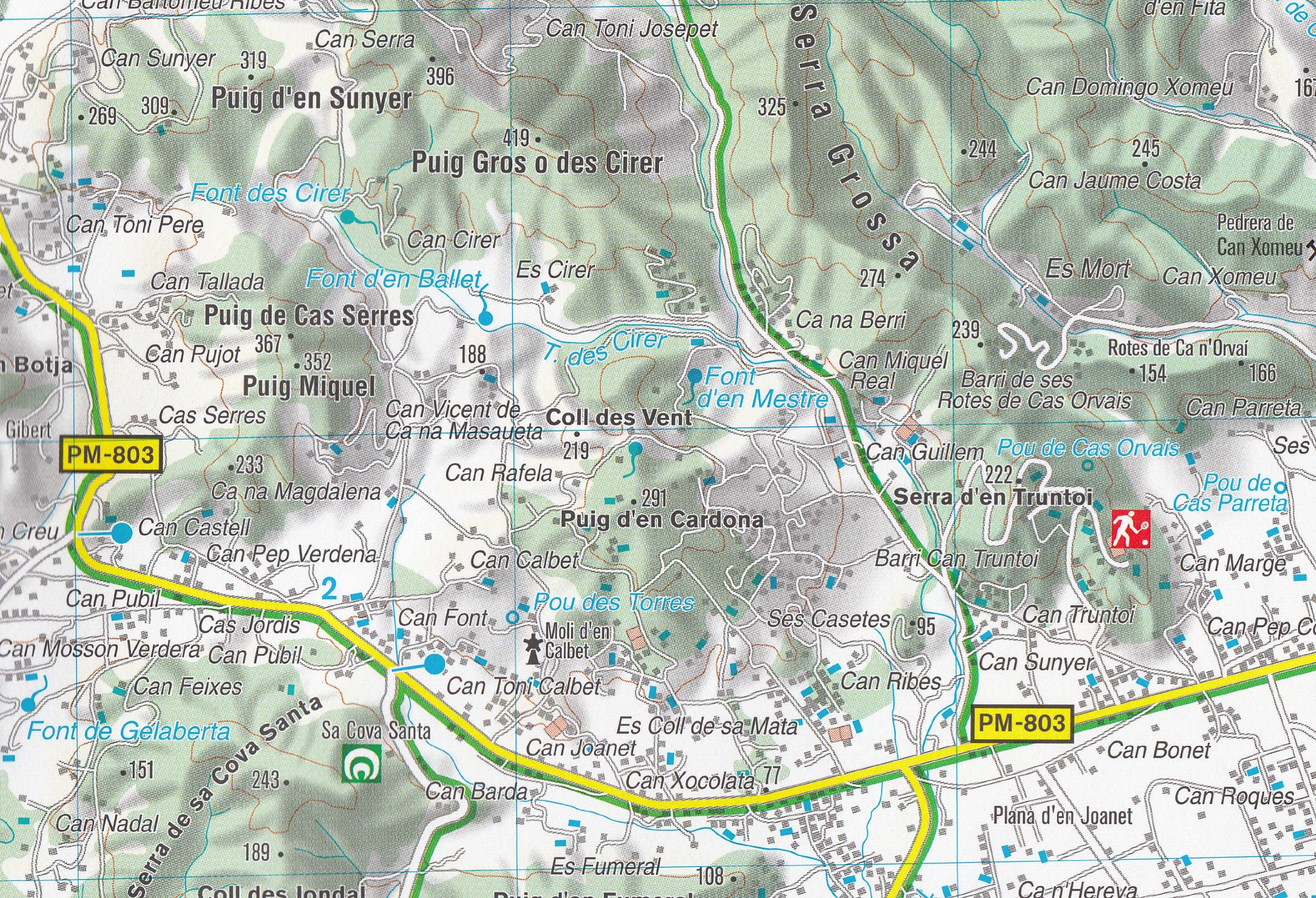 Ibiza y Formentera mapa topográfico 1:50.000 senderismo, ciclismo ...