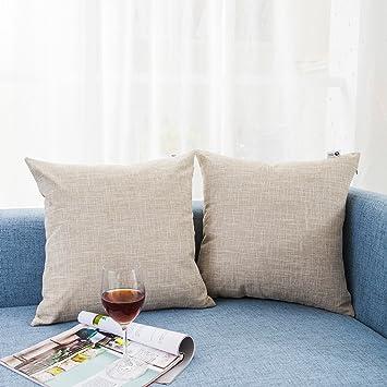 Amazon Kevin Textile Decor Lined Linen Pillow Cover Euro