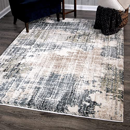Orian Rugs Basque Area Rug, 9 x 13 , Muted Blue