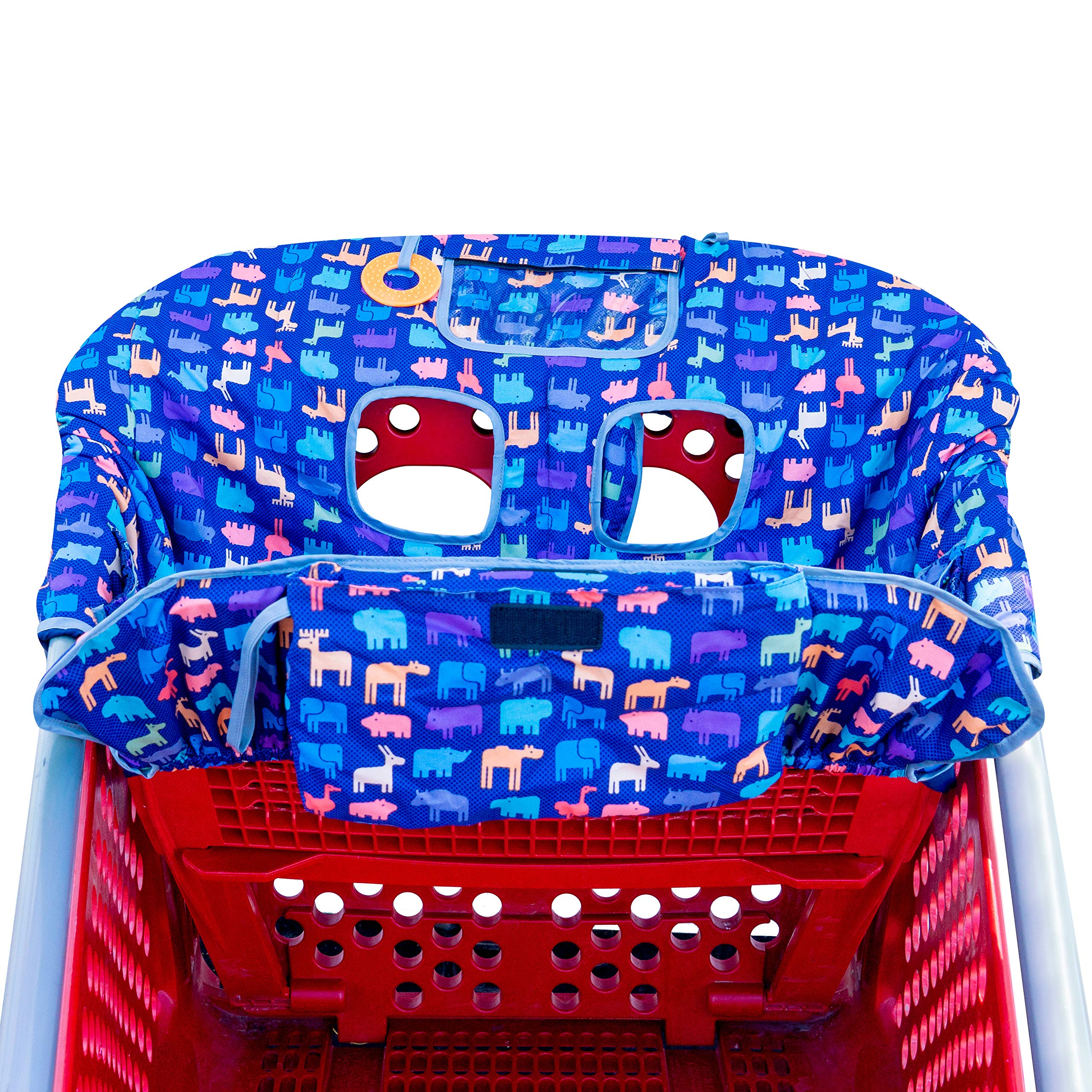 New from Busy Bambino: 2-in-1 shopping cart/high chair cover perfect for you and your baby. Now available in a beautiful animal print. Buy Now! by Busy Bambino (Image #8)