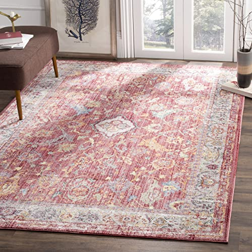 Safavieh Bristol Collection Area Rug, 9 x 12 , Rose Light Grey
