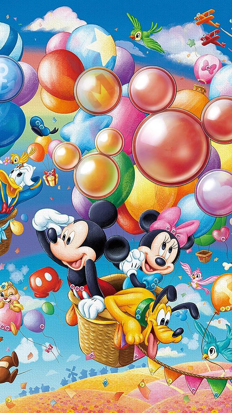 ディズニー Iphone8 7 6s 6 750 1334 壁紙 Balloon Adventure