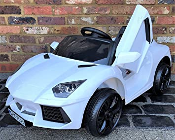 Kids Lamborghini Aventador Style Roadster 12V Battery Electric Ride on Car  with Remote Control , White