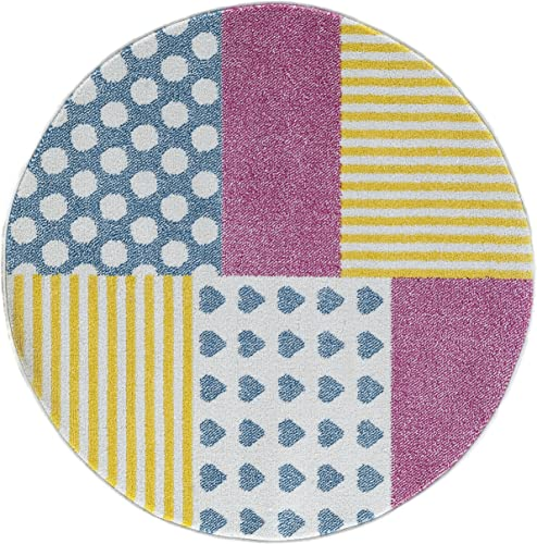 LR Home Whimsical Area Rug, 4 8 , Cream Yellow