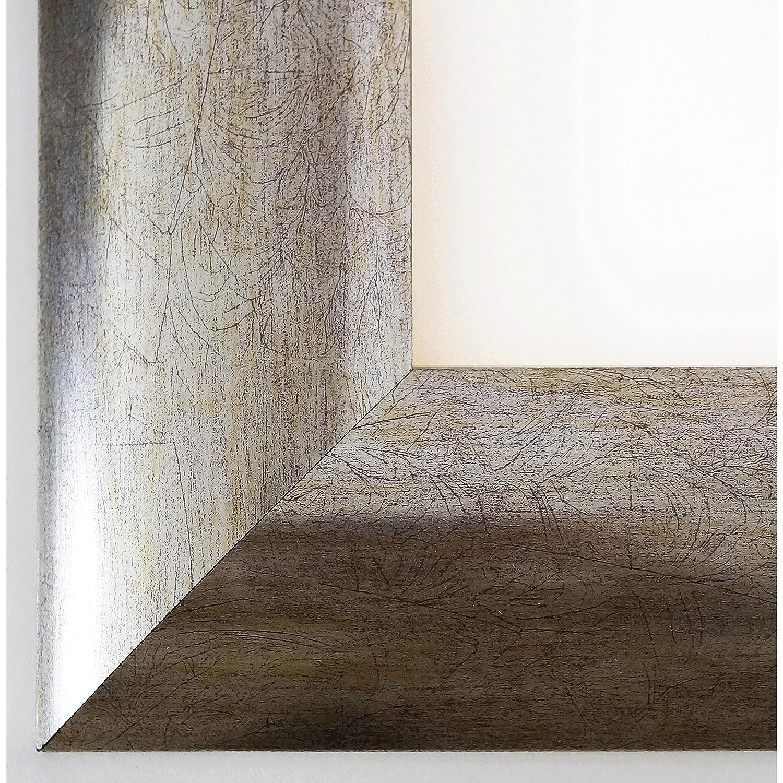 Bilderrahmen Silber - 40 x 50 cm - Modern, Landhaus - Alle Größen - handgefertigt - Galerie-Qualität - WRU - Magdeburg Silber 7,9