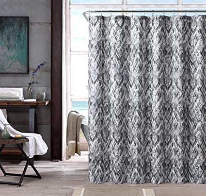 DESIGNER LINENS OUTLET Mildew Resistant Fabric Shower Curtain 70 Inches By 72 Waterproof