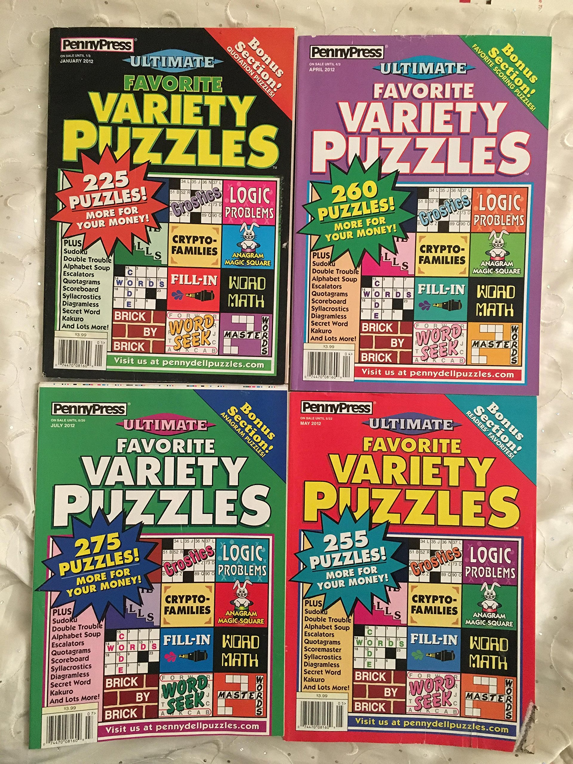Download Lot of 4 Penny Press Ultimate Variety Puzzles Full Size Puzzle Books 2012 Lot #3 ebook