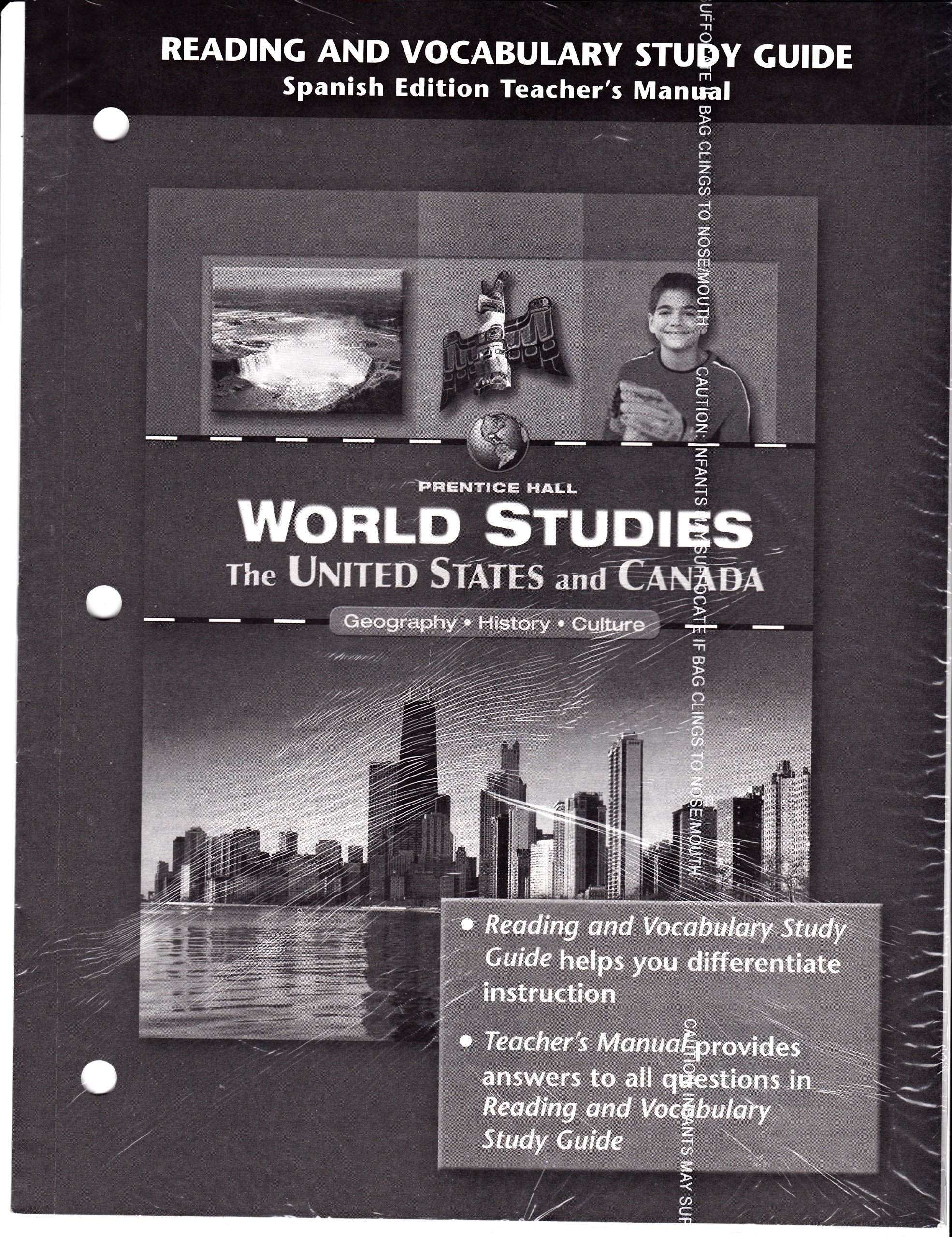 Reading and Vocabulary Study Guide Spanish Edition Teacher's Manual (Prentice  Hall World Studies The United States and Canada, Geography - History ...