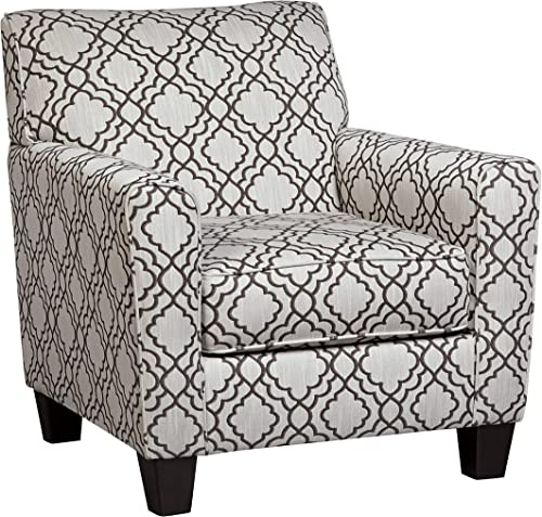 Ashley Furniture Signature Design – Farouh Accent Chair – Vintage Inspired Lattice Design – Pearl