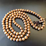 8mm*108 Prayer Beads Wenge Wood Tibet Buddhist Prayer Mala Lovely Patten