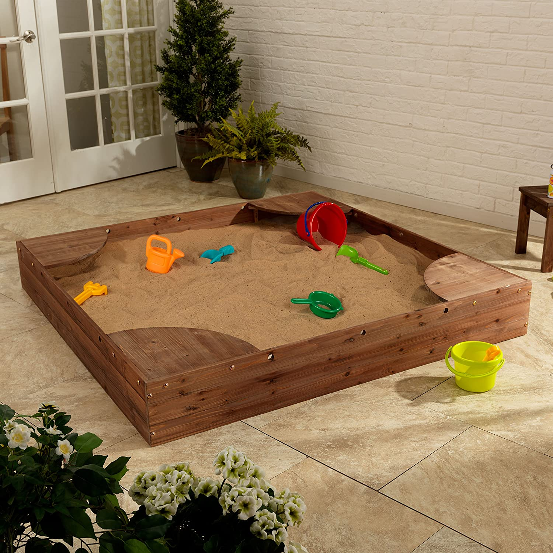 amazon com kidkraft backyard sandbox espresso toys u0026 games