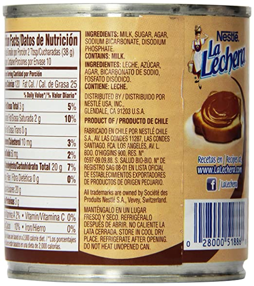 Amazon.com : La Lechera Dulce De Leche, 13.4-Ounce Container - 9 Pack : Grocery & Gourmet Food