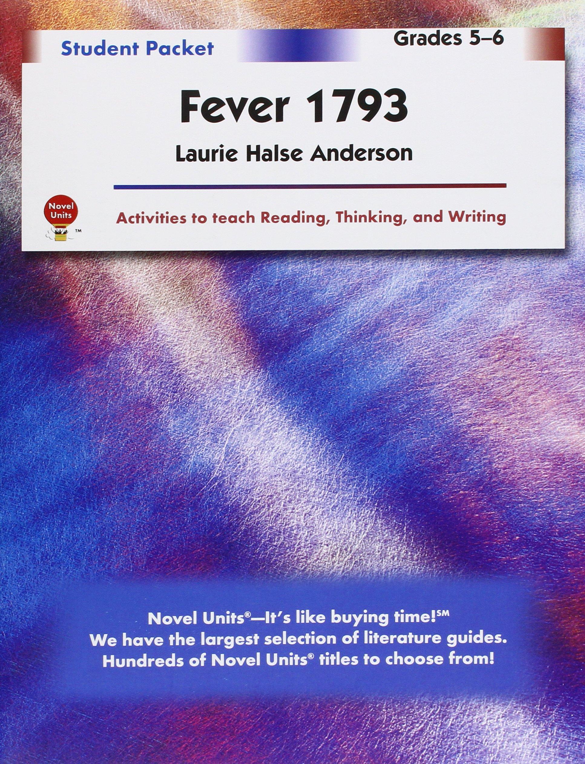 Fever 1793 student packet by novel units novel units fever 1793 student packet by novel units novel units 9781581308952 amazon books fandeluxe Images
