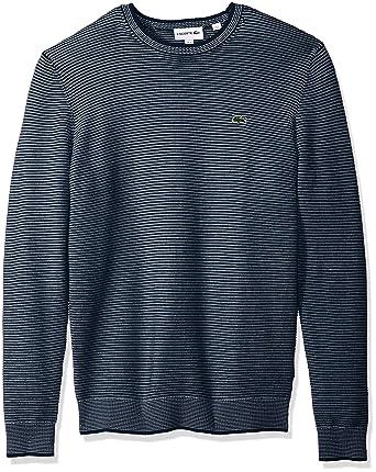 189d84e1a035f Lacoste Men s Long Sleeve Mille-Raye Ottoman Sweater