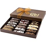 Biscotti Cookie Gift Basket, Gourmet Gift Basket, Delicious Biscotti Artfully Decorated 18 Count Gift Box - Oh! Nuts