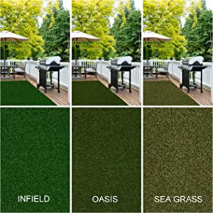 SQUARE 12'X12' Park Central Sea Grass Outdoor Artifical Grass Turf Many Sizes