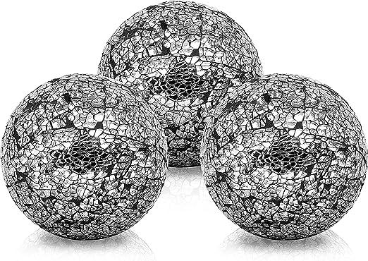 BELLE VOUS Bolas de Decoracion (3 Piezas) - Bolas de Cristal 10 ...