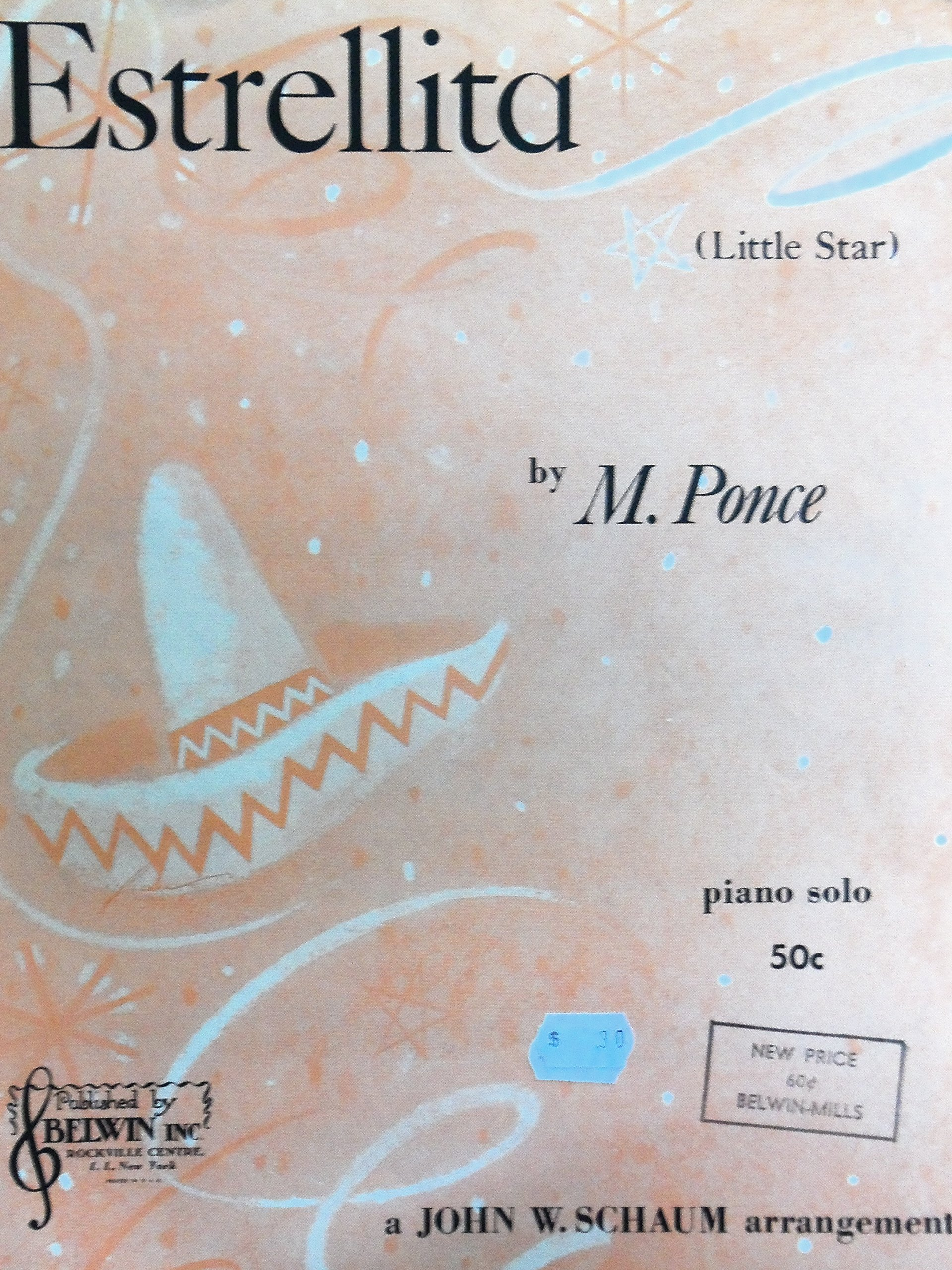 Estrellita Little Star Piano Solo M Ponce Arranged By John W Schaum Amazon Com Books