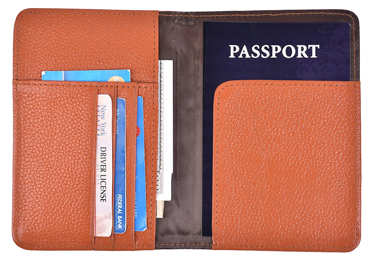 Yeeasy Passport Holder Genuine Leather Passport Cover Case Travel Wallet (Black) PW17040503CYE1