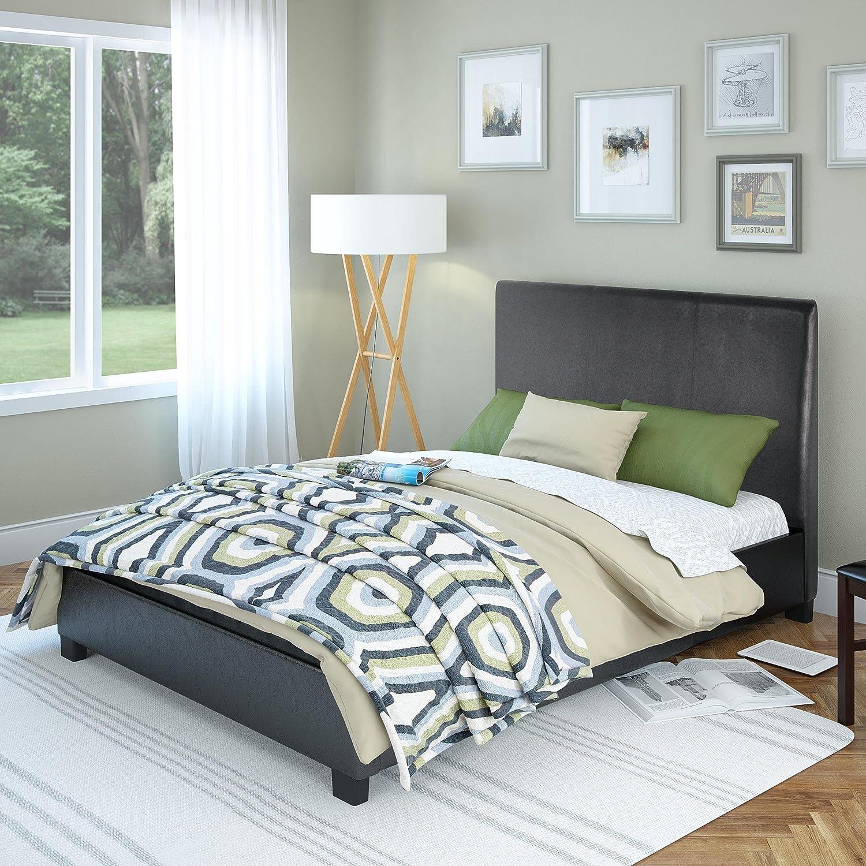 San Diego Bedroom Furniture Amazoncom Sonax Corliving San Diego Leatherette Upholstered