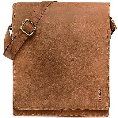 1574d362514ec LEABAGS London messenger bag shoulder bag for 13 inch laptop of genuine  leather in vintage style
