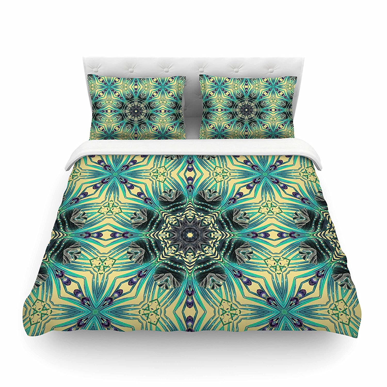 88 x 88, Kess InHouse BarmalisiRTB Keep Yourself Featherweight Queen Duvet Cover