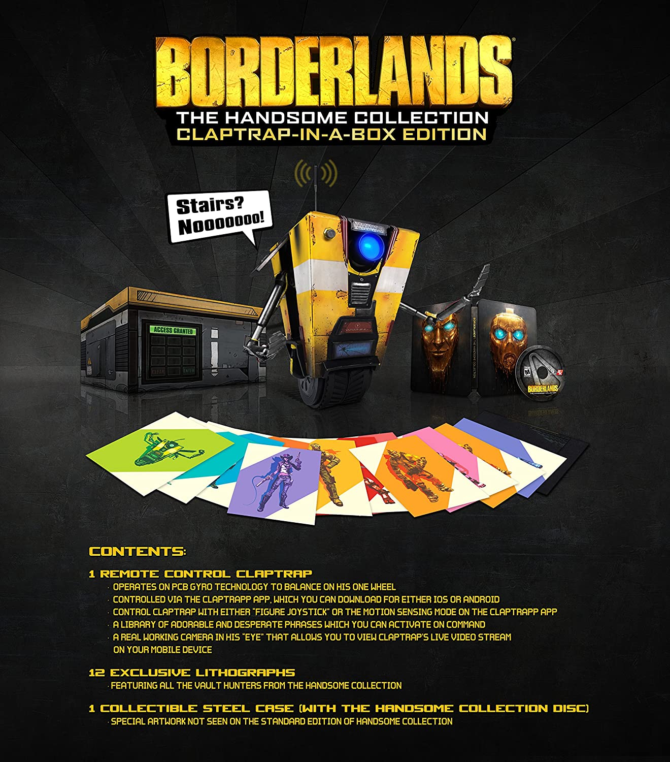 Amazon com: Borderlands: The Handsome Collection- Claptrap-in-a-Box