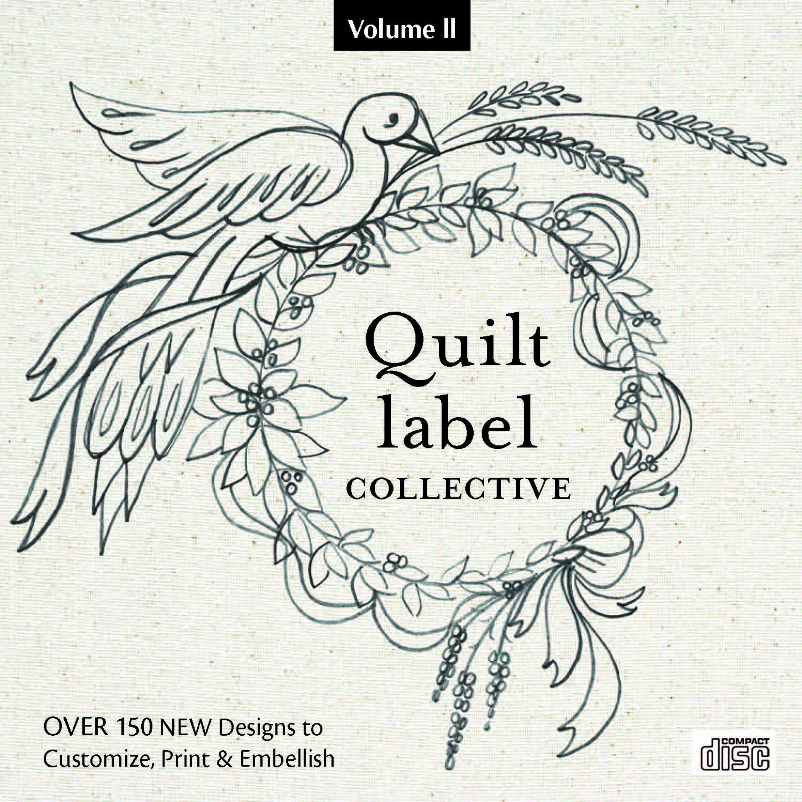 image regarding Printable Quilt Labels identified as Quilt Label Collective CD: Above 150 Contemporary Models in the direction of Customise
