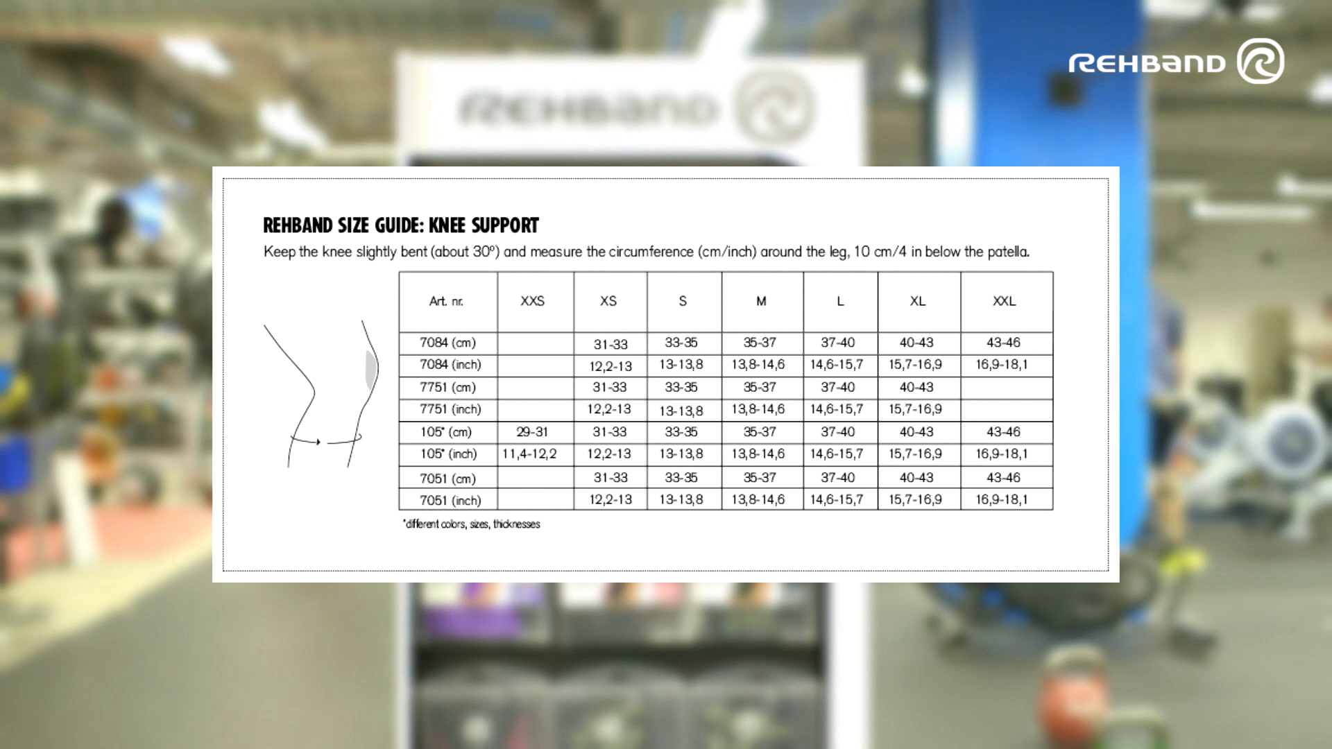 Rehband Knee Support Sizing Guide Video