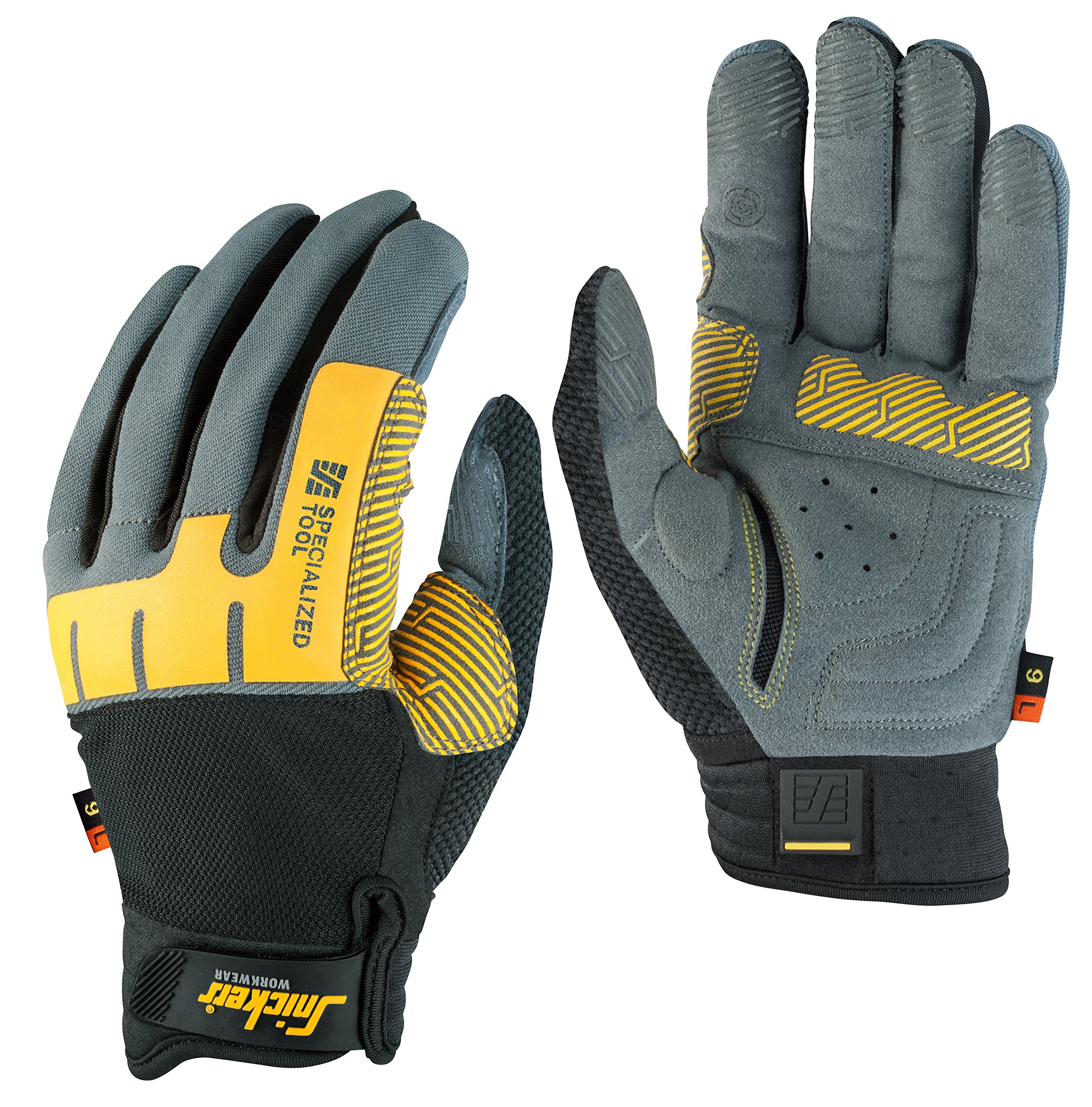 Snickers 95974804009''Specialized Tool'' Left Glove, Grey/Black, 9