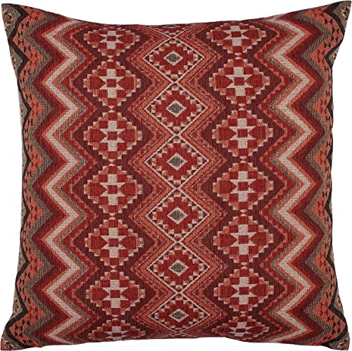 Amazon Brand Stone Beam Southwest-Inspired Versatile Decorative Throw Pillow, 20 x 20 , Red