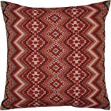 """Stone & Beam Southwest-Inspired Pillow, 20"""" x 20"""", Red"""