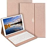 """iPad Pro 12.9"""" Keyboard Case ,COO Pu Leather with Removable Bluetooth Keyboard and Auto Wake / Sleep Smart Case (Champagne)"""