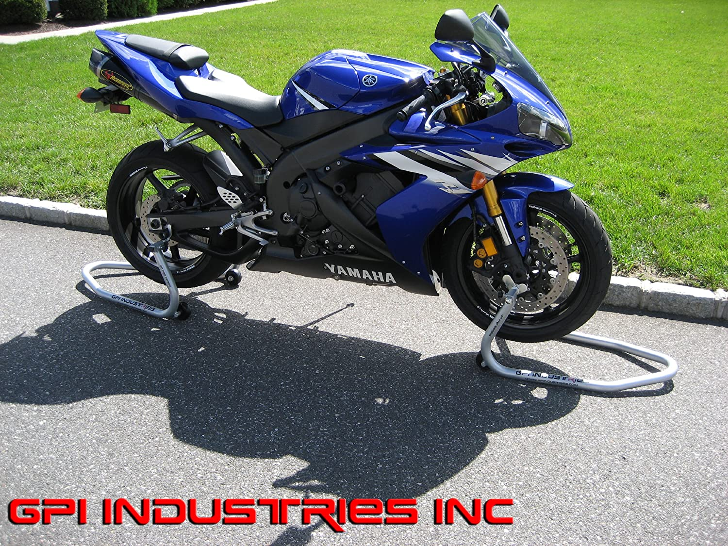 Yamaha YZF R1 R1s R1m R6 R6s R3 FZ1 FZ6 FZ9 FZ09 FZ10 FZ07 MT07 MT09 MT10 GP Pro Series Universal Front and Rear Motorcycle Sportbike Paddock Race Stands Lifts by GPI Industries