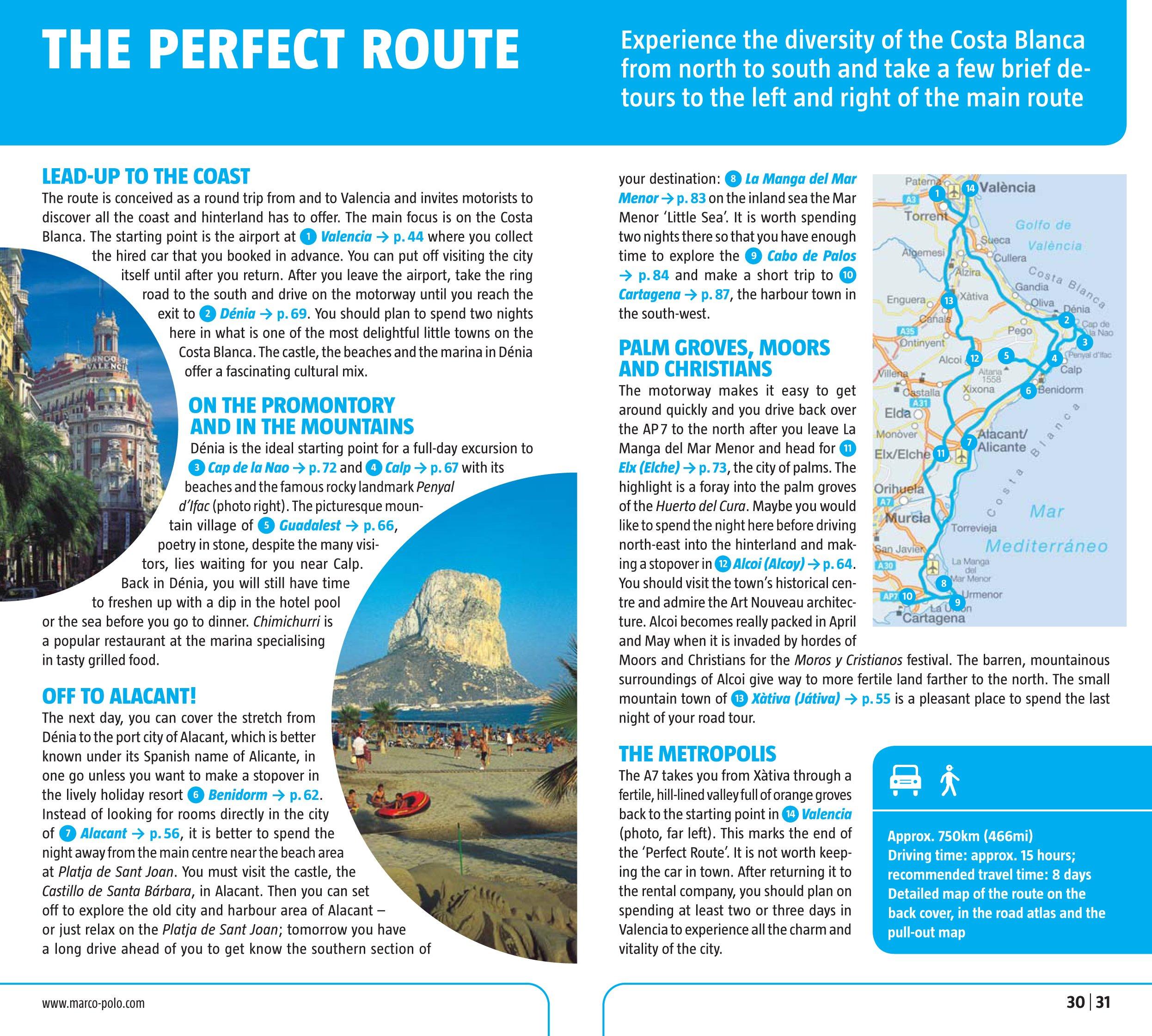 Costa Blanca Valencia Marco Polo Guide (Marco Polo Guides): Marco Polo Travel Publishing: 8601404437885: Amazon.com: Books