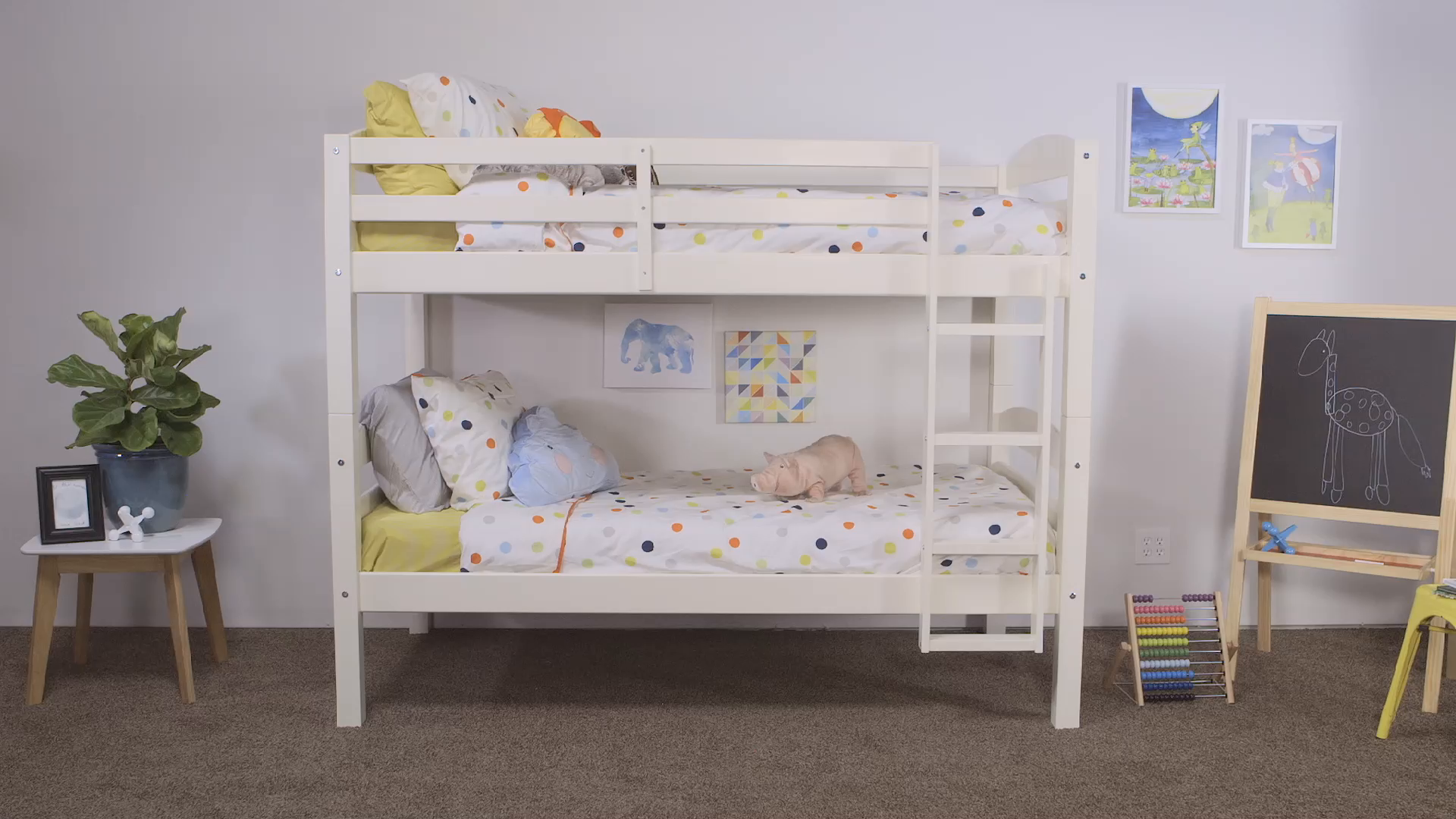 Walker Edison Solid Wood Twin Bunk Bed 7