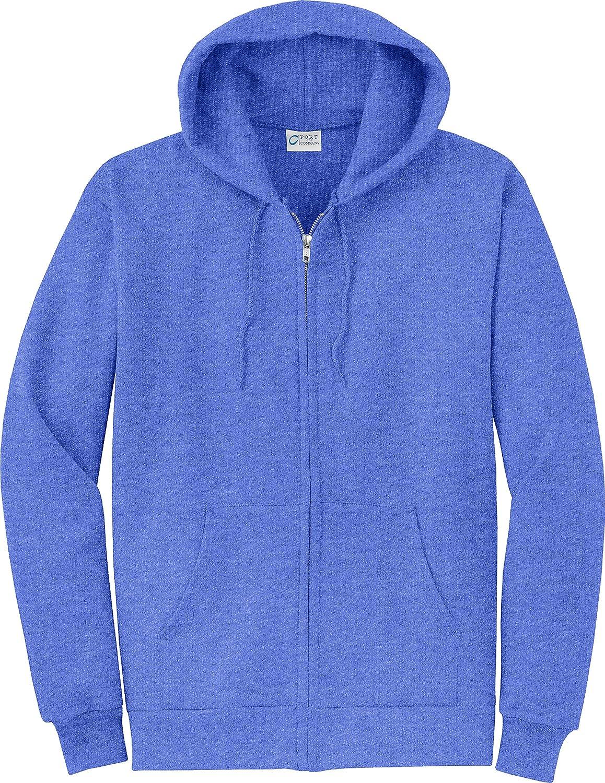 Port /& Company Mens Classic Lightweight Hooded Sweatshirt/_Heather Royal/_Small