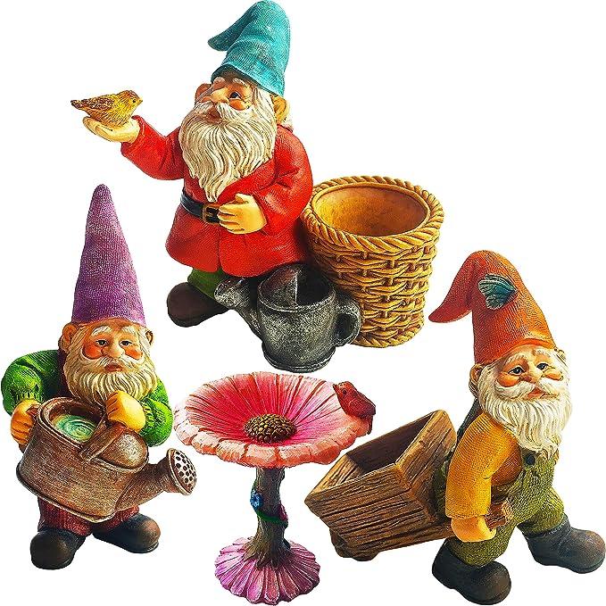 Mood Lab Miniature Gardening Gnomes Set of 4 pcs - 3,1