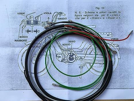 Schemi Cablaggi Elettrici : Impianto elettrico cablaggi completo per tutti i modelli di ciao
