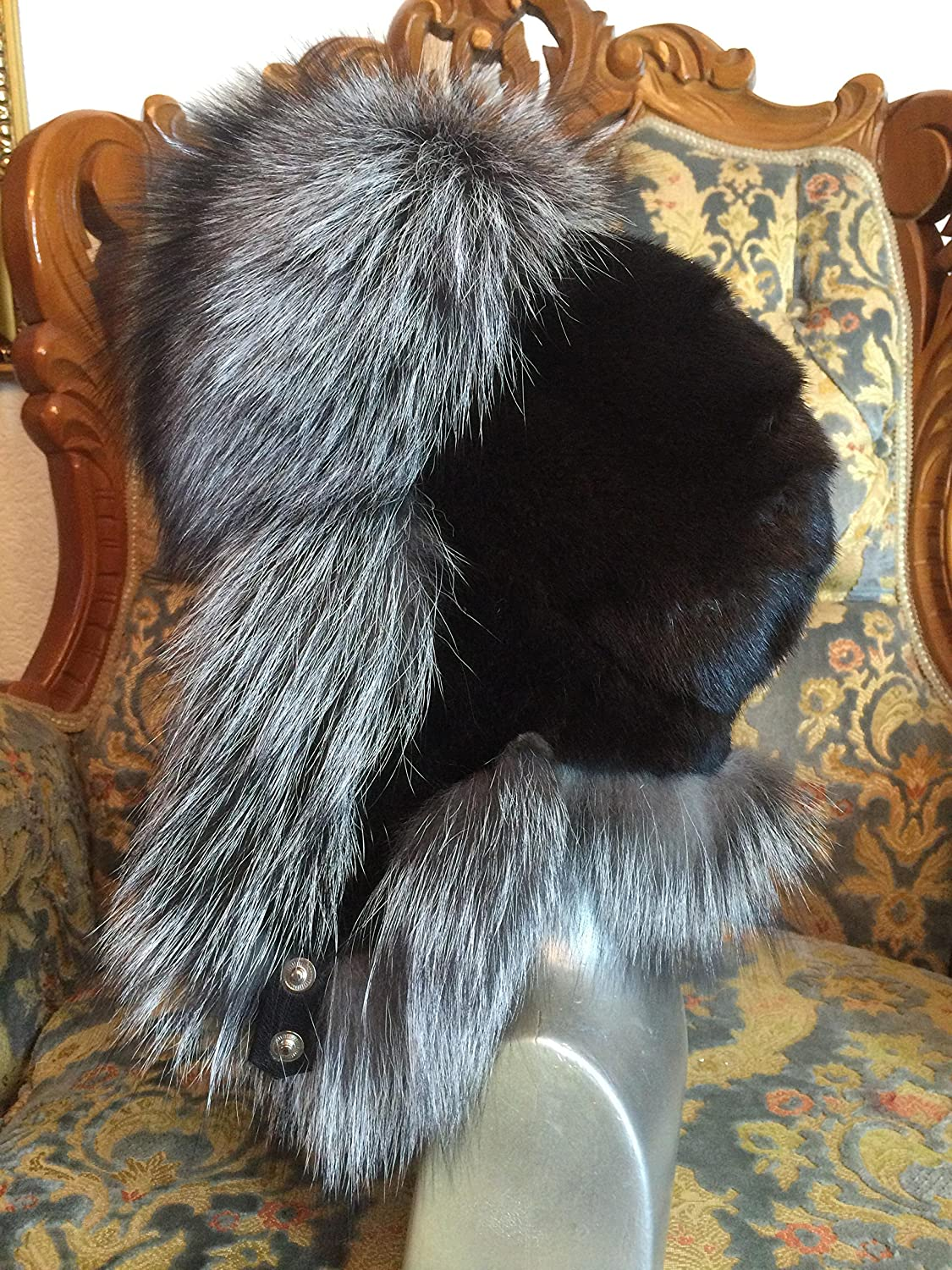 6c281bf08 Silver Fox And Mink Fur Full Hat. Saga Furs From Finland