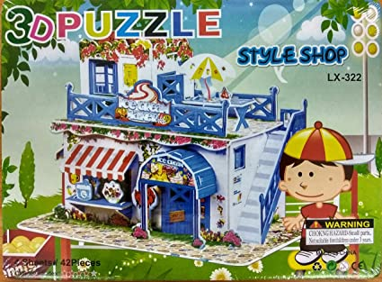 Buy blossom 3d puzzle style shop do it yourself toy for mind blossom 3d puzzle style shop do it yourself toy for mind development for kids solutioingenieria Image collections