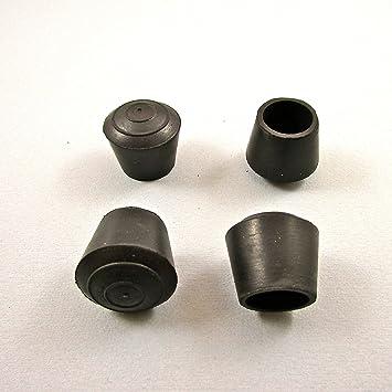 protector de suelo para patas de sillas EVR112-M 12 piezas Contera pl/ástica redonda D: 12 mm ajile NEGRA