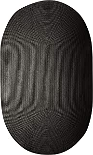 product image for Colonial Mills Polypropylene Braided Rug, 7x9, Black