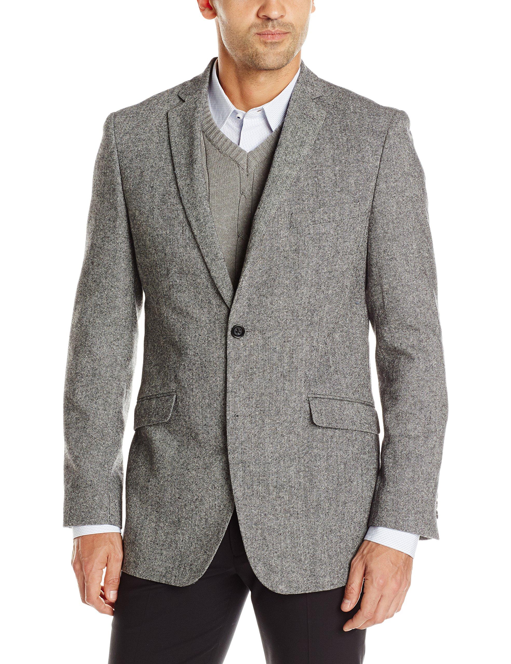 U.S. Polo Assn. Men's Wool Donegal Sport Coat, Gray, 42 Regular