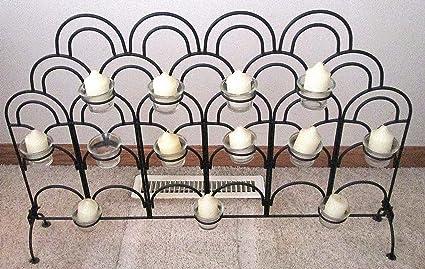 Miraculous Amazon Com Black Wroth Iron Fireplace Candle Holder Interior Design Ideas Gentotryabchikinfo
