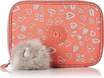 Kipling 100 Pens Estuche Grande, Multicolores (Hearty Pink Met): Amazon.es: Equipaje
