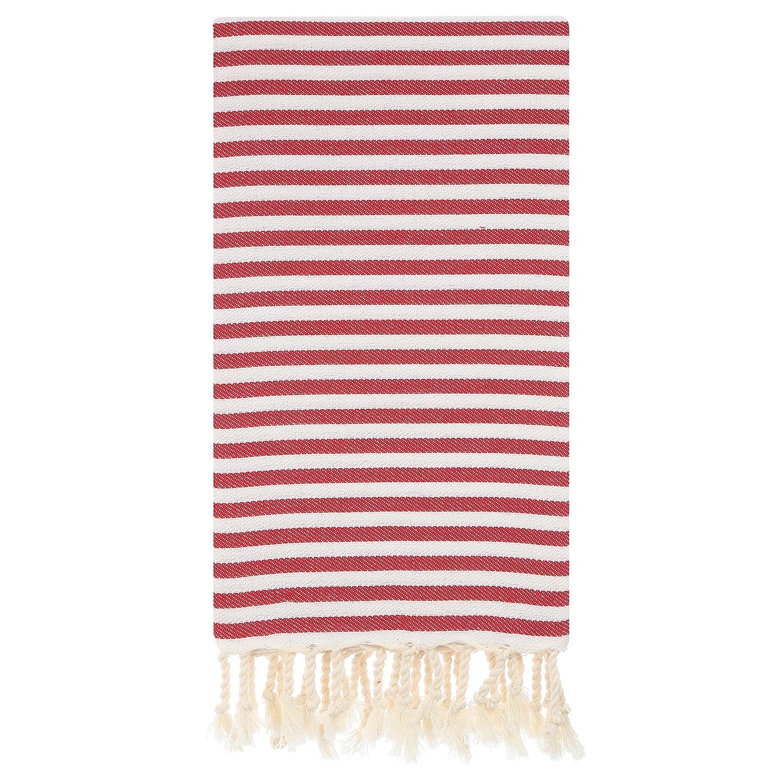 Cacala Zebra Series - Turkish Bath Towels - Traditional Peshtemal Design for Bathrooms, Beach, Sauna - 100% Natural Cotton, Ultra-Soft, Fast-Drying, Green