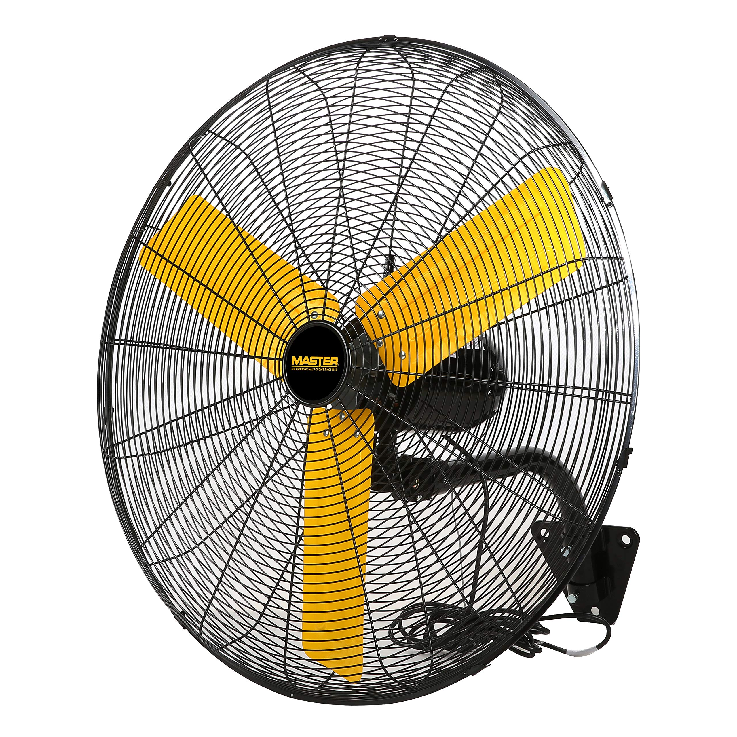 Master Professional High Velocity Wall Fan, 30-inch, 3 Speed, 6,000 CFM, OSHA Compliant - MAC-30W by Master