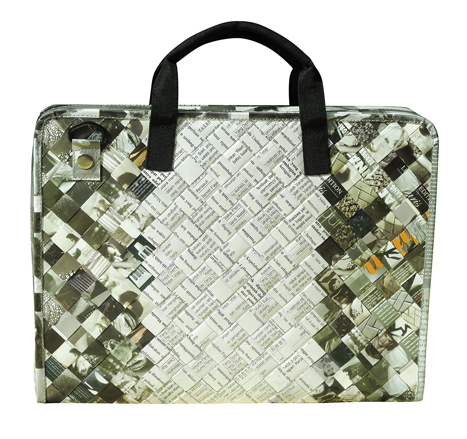 b8399cbe3b88 LAPTOP briefcase made of magazine paper