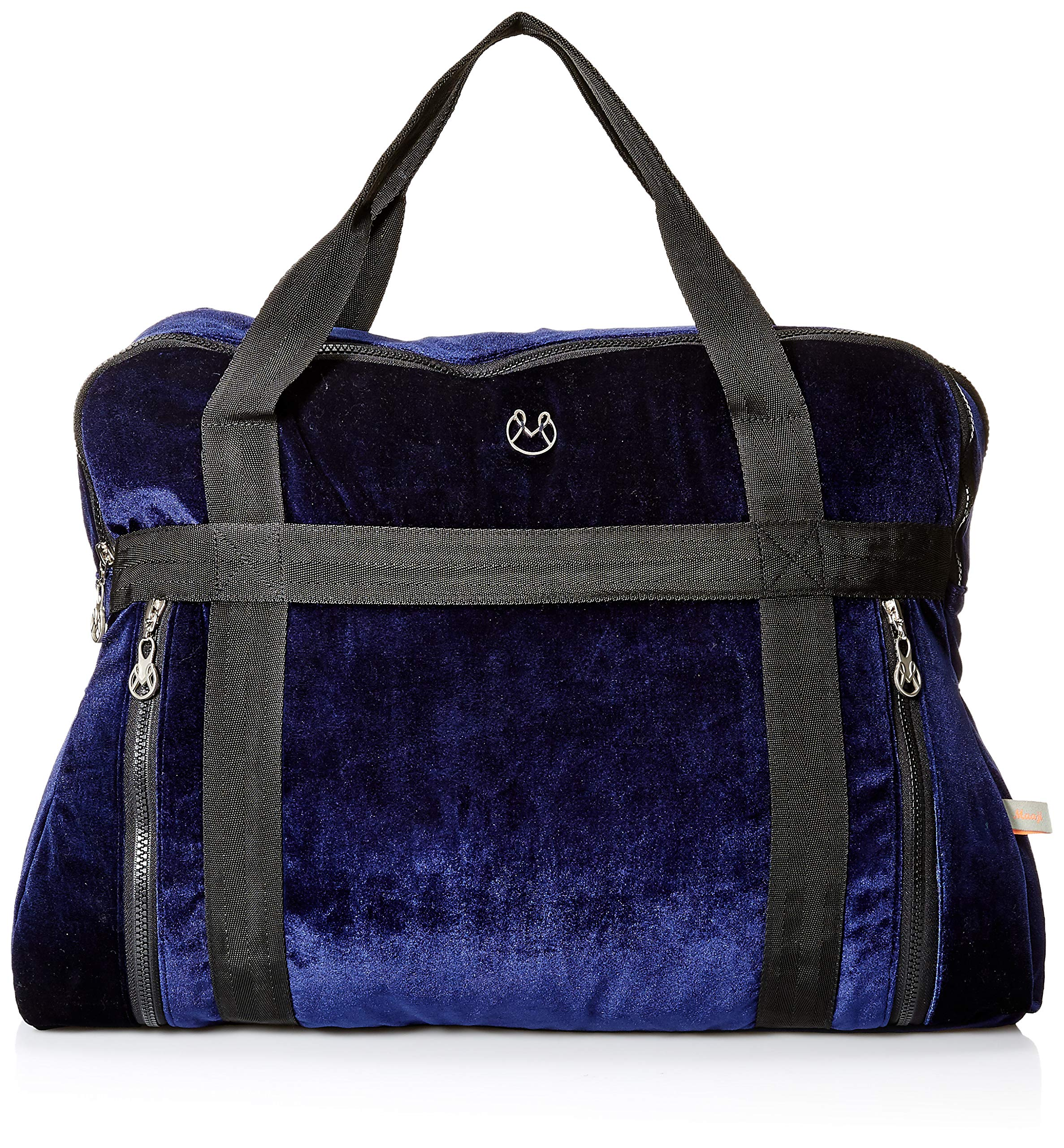 Maaji Women's Velvet Solid Yoga Bag, blue One Size